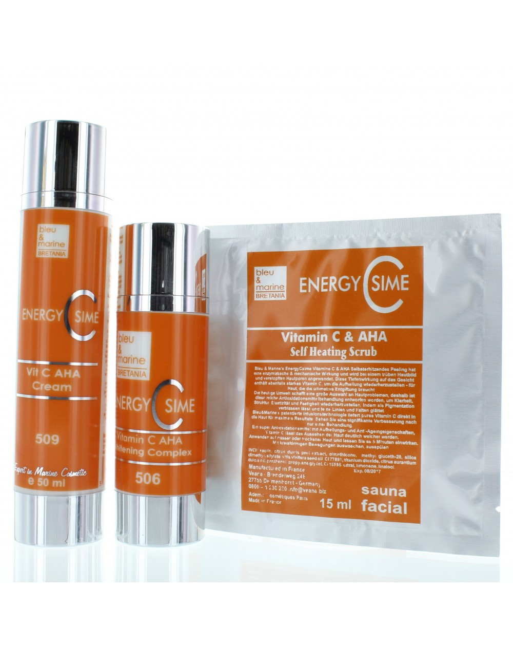 EnergyCsime Whitening Complex + Cream + Self Heating Scrub