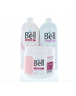 HairBell Shampoo (1000ml) + Conditioner (1000ml) + Maske (500ml)