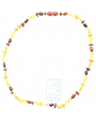 Amber chain two-tone (44cm)