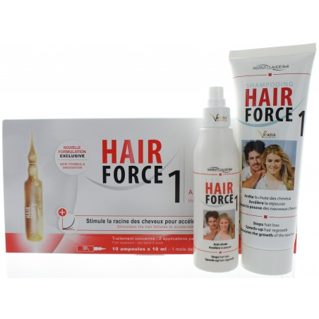 Hair Force One - Ampullen + Shampoo + Lotion