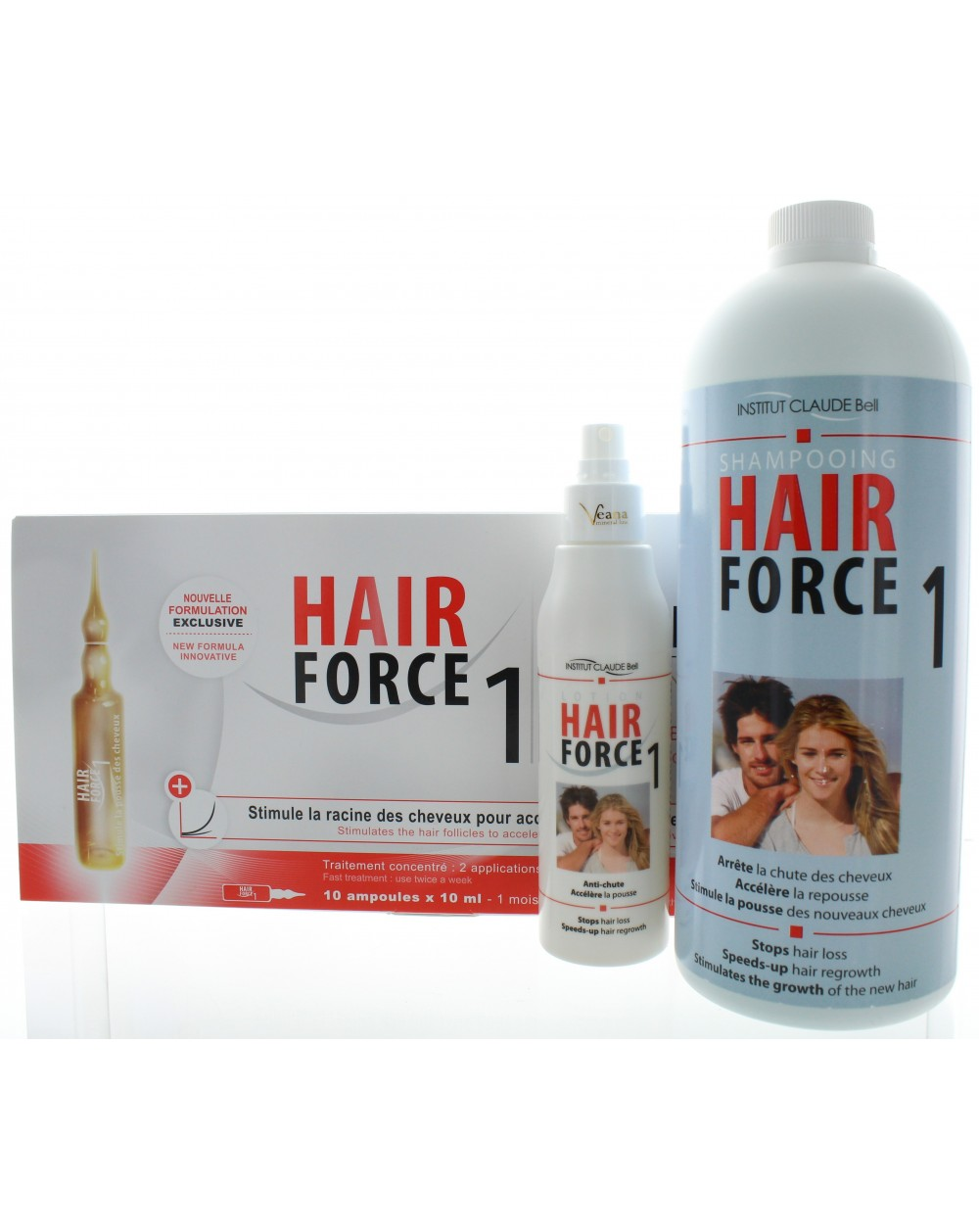 Hair Force One - Ampullen + Shampoo + Lotion Professional
