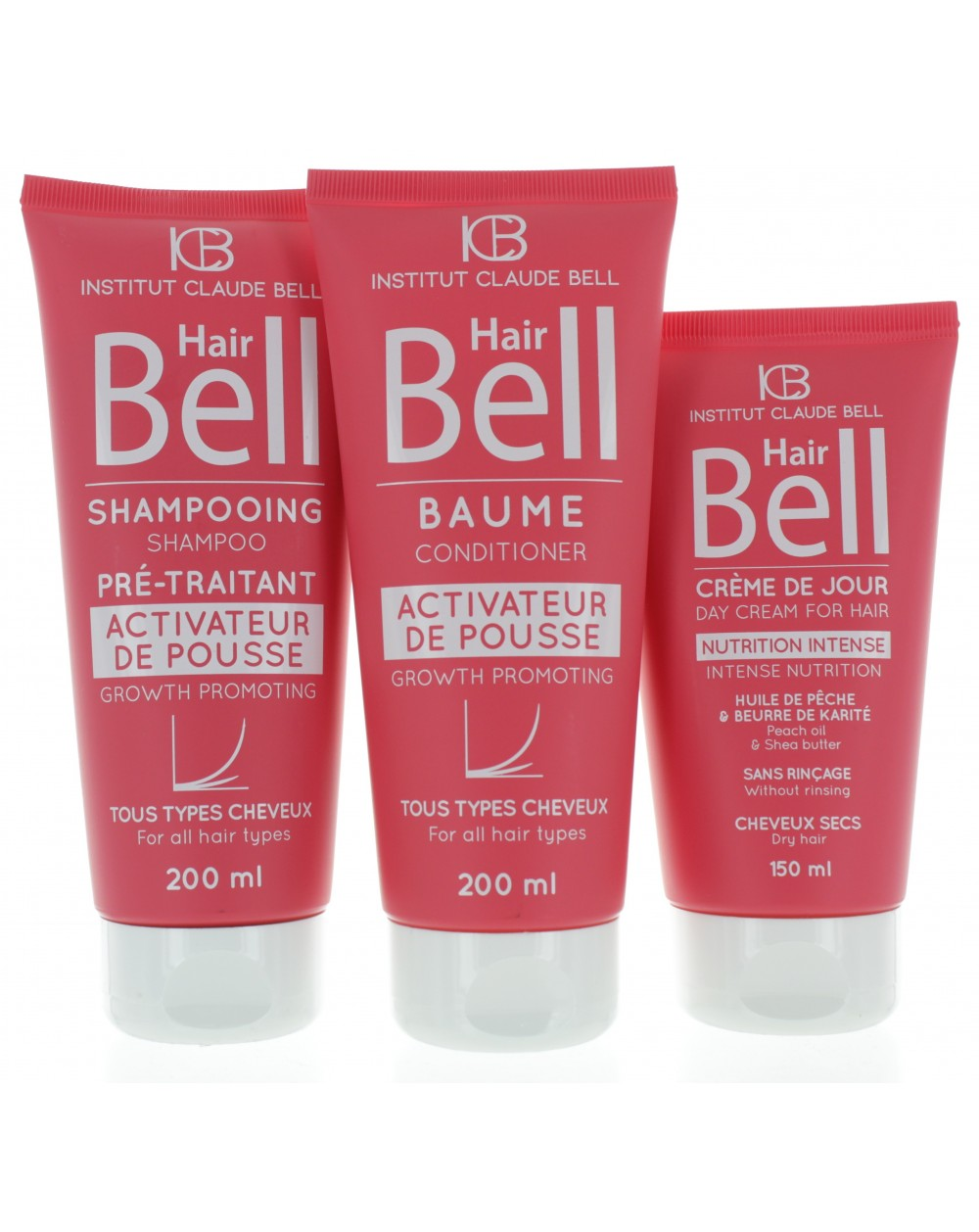 HairBell Shampoo + Conditioner + HairCream intensiv pink edition