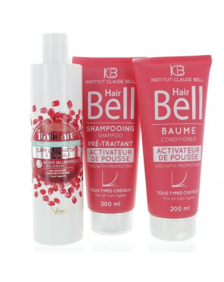 Hyaluron Haarshampoo mit Granatapfel 300ml + HairBell Shampoo & Conditioner 2x200ml