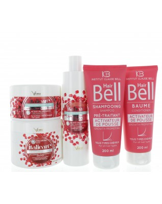 Hyaluron Haar Gel, Granatapfel (2x300ml + 1x500ml) + HairBell Shampoo + Conditioner (2x200ml)