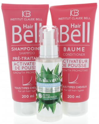 Hyaluron Aloe Vera Lockenpflege (100ml) + HairBell Shampoo & Conditioner (2x200ml)