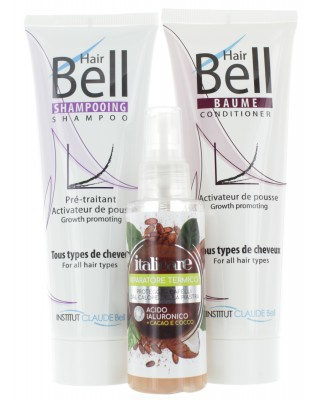 Hyaluron Haar Hitzeschutz (100ml) + HairBell Shampoo & Conditioner (2x250ml)