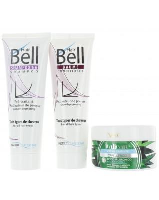 Hyaluron Aloe Vera Haarmaske (300ml) + HairBell Shampoo & Conditioner (2x250ml)