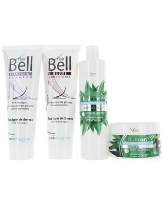 Hyaluron Aloe Vera Shampoo & Haarmaske (2x300ml) + HairBell Shampoo & Conditioner (2x200ml)